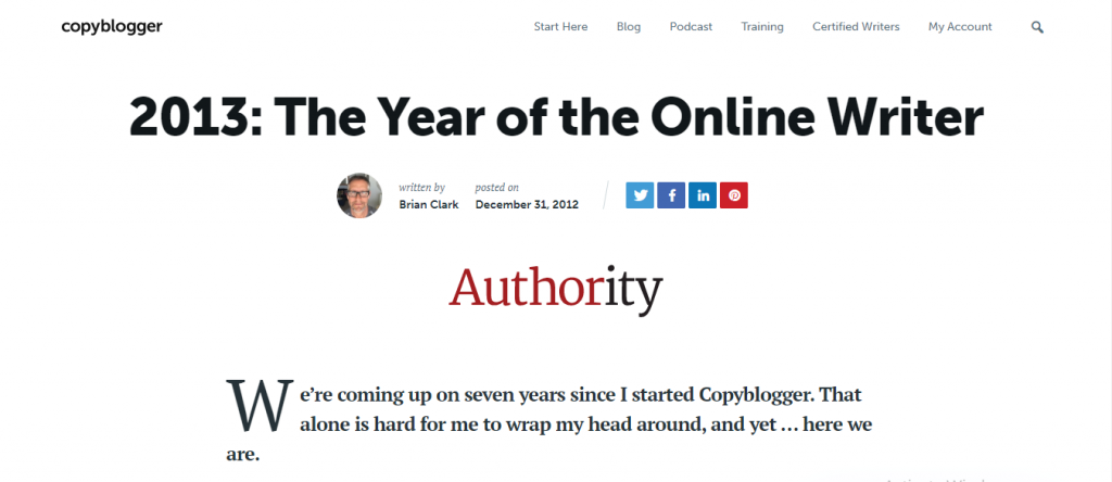 2013 The Year of the Online Writer