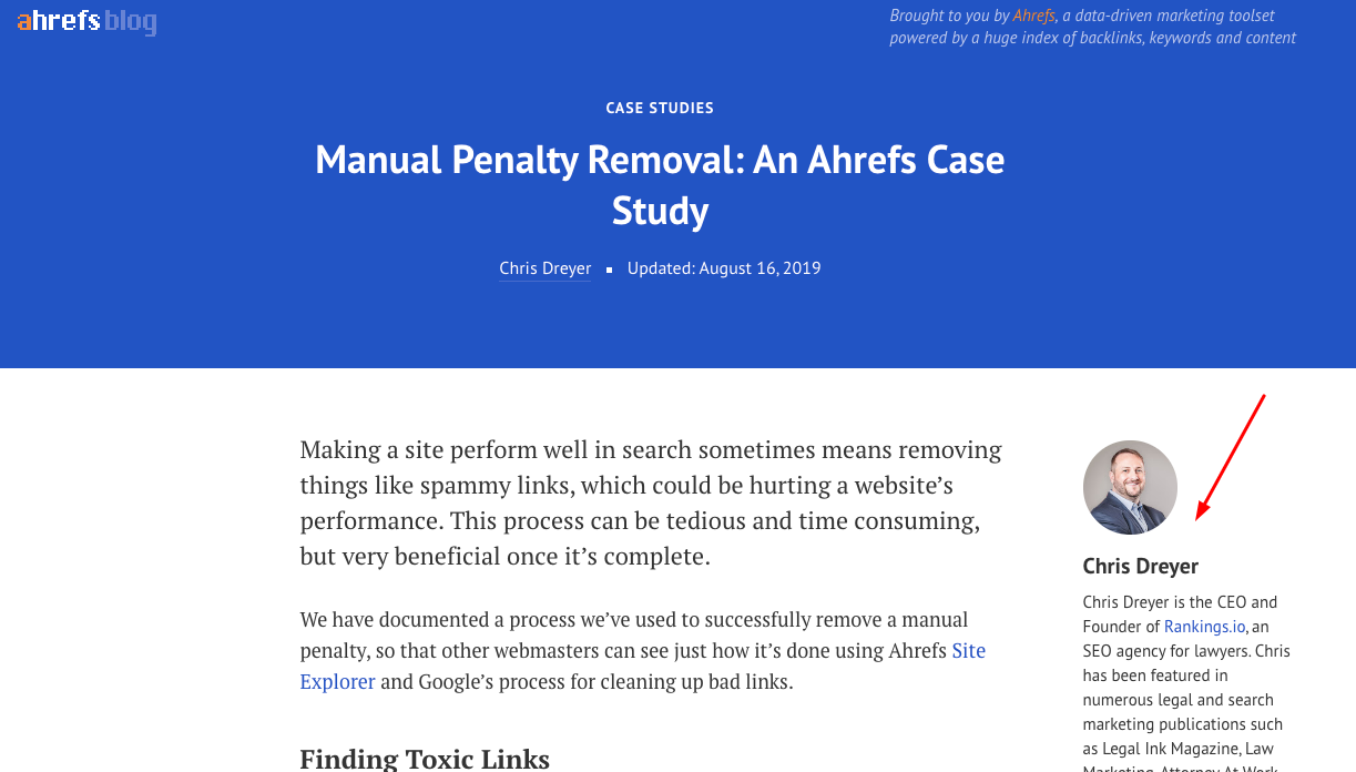 Guest article of Chris Dreyer at ahrefs