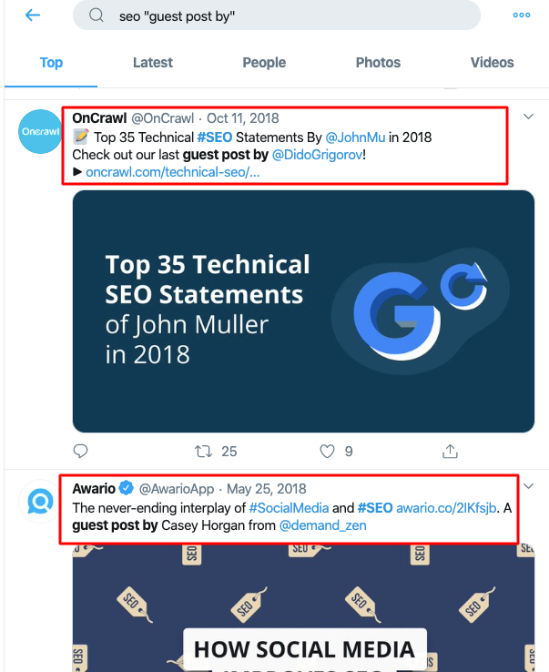 Twitter Search SEO guest post